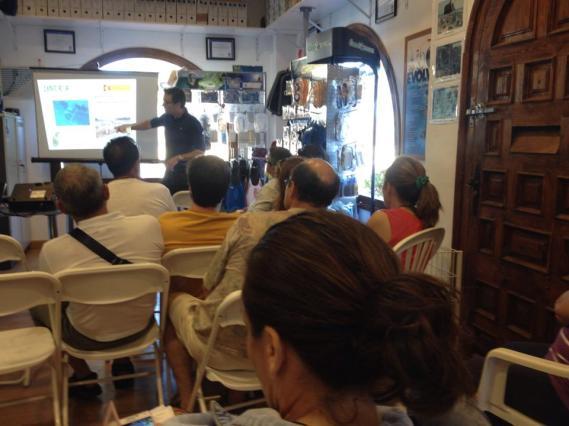 Charla sobre arqueología subacuática y buceo deportivo en Escuela de buceo Cabo de la Nao