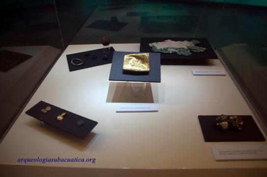 Objetos provenientes del pecio de la fragata Mercedes expuestos en ARQVA.