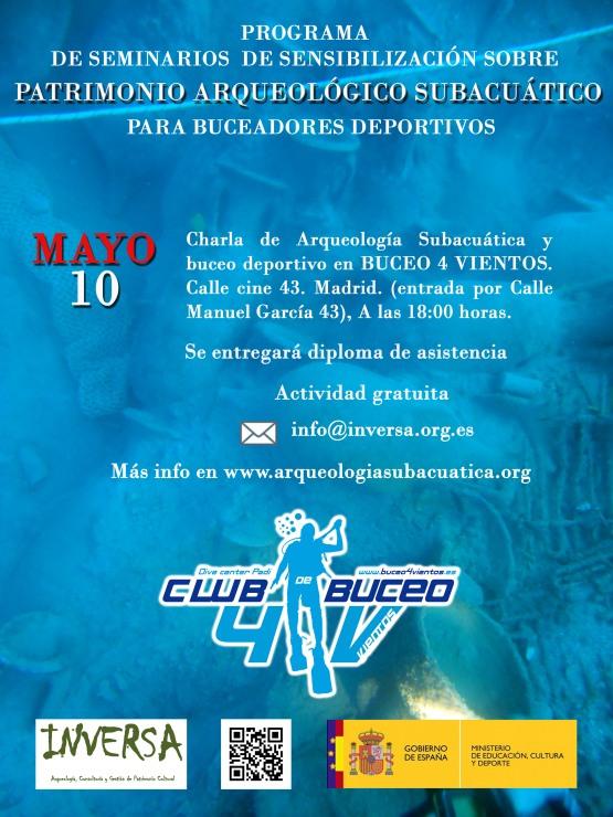 Charla sobre arqueología subacuática y buceo deportivo en Buceo 4vientos