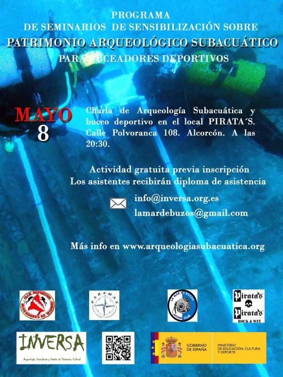 Charla sobre arqueología subacuática y buceo deportivo en Alcorcón
