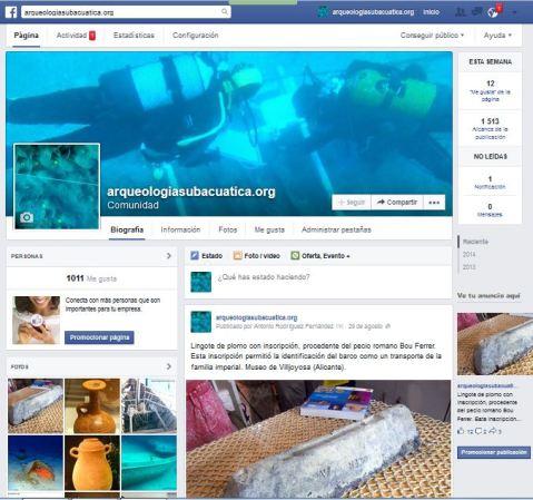 Pantallazo de nuestra página en Facebook