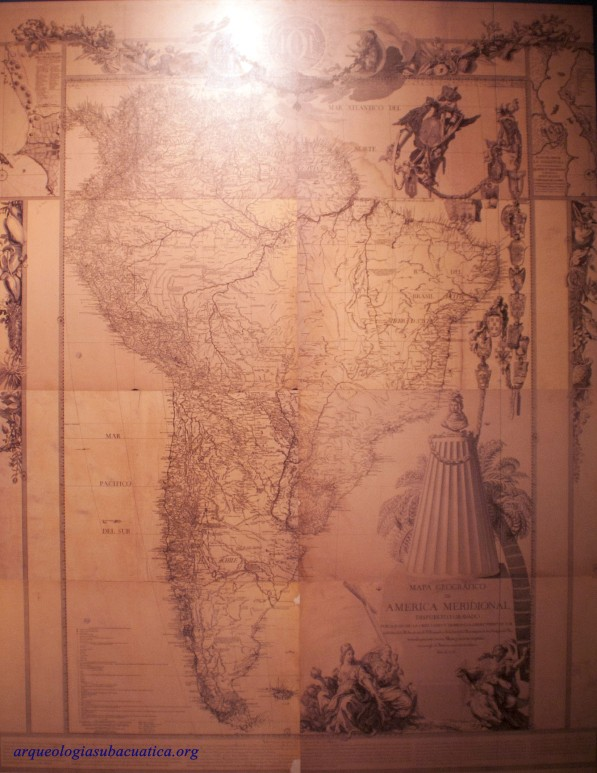Mapa de América meridional