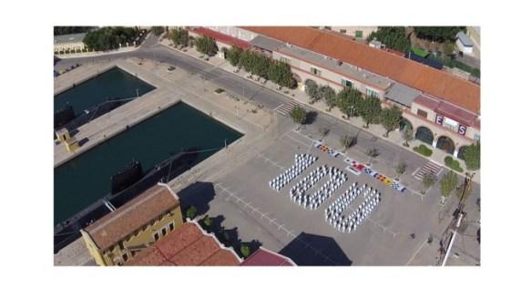 Fotografía de los preparativos de la Flotilla de Submarinos en el centenario de la Ley Miranda (fuente A. Arévalo)