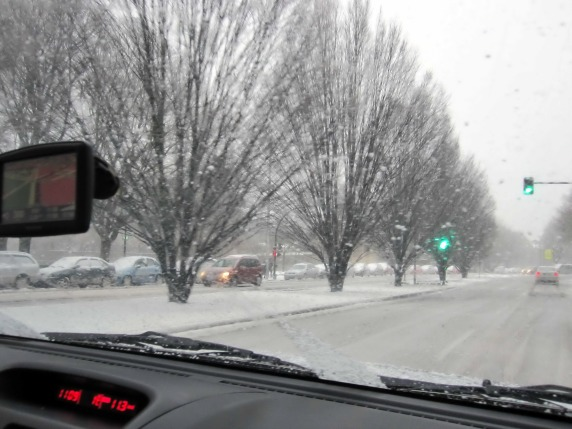 Nos pilló el temporal, pero Pamplona nevada está muy bonita