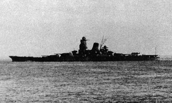 """Imagen del impresionante crucero nipón IJN """"Musashi"""" (fuente)."""