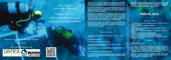 Curso de buceo Open Water Diver PADI con introducción a la Arqueología Subacuática